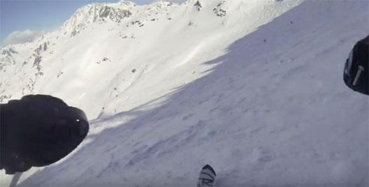 5 minutes avec Baptiste à la caméra et aux skis sur les pistes de Val Thorens