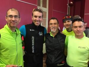les 4 coureurs de l'ASPTT autour Magnificat vice champion olympique 2018